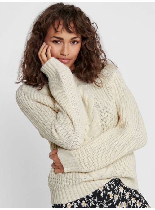 PULLOVER FEM KNIT PC85/WO15 - WHITE -