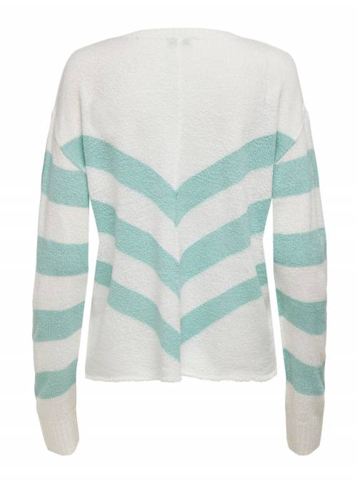 PULLOVER FEM KNIT PC100 - TURQUOISE - ST
