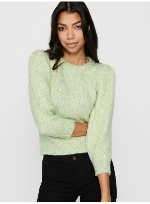 PULLOVER FEM KNIT POA55/PC45 - GREEN - W