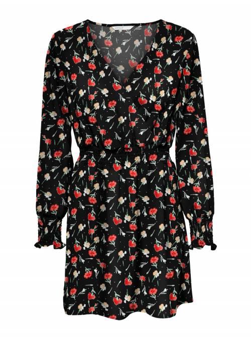 DRESS - BLACK - SMALL FLOWER