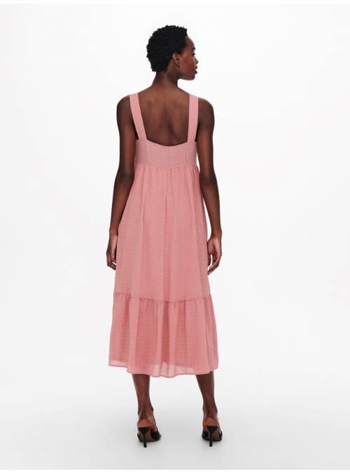 DRESS FEM WOV PL99/EA1 - ROSE -