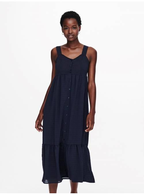 DRESS FEM WOV PL99/EA1 - BLUE -