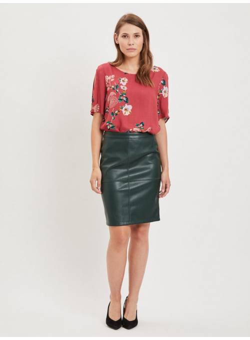 SKIRT GREEN ECOPIEL