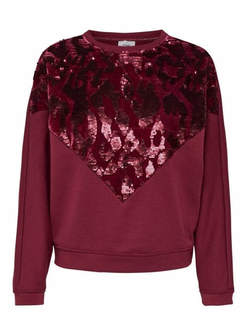SWEAT FEM KNIT PL65/CO35 - RED - W.SEQUI