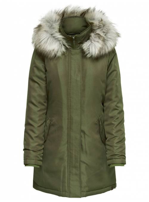 COAT FEM WOV PL100 - GREY -