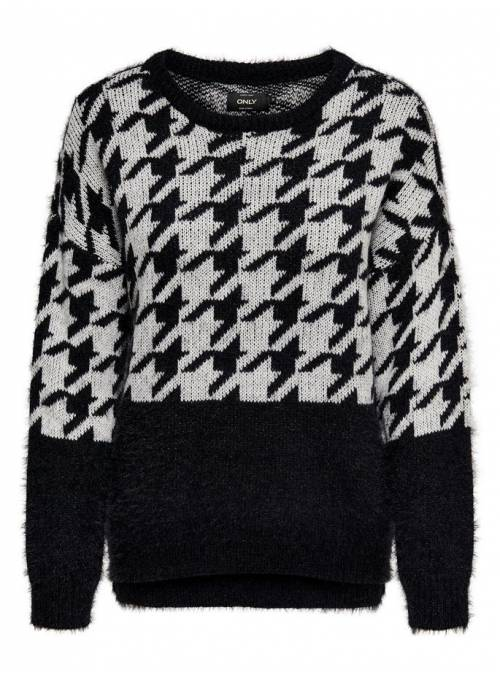 PULLOVER FEM KNIT PC60/NYL40 - BLACK - W