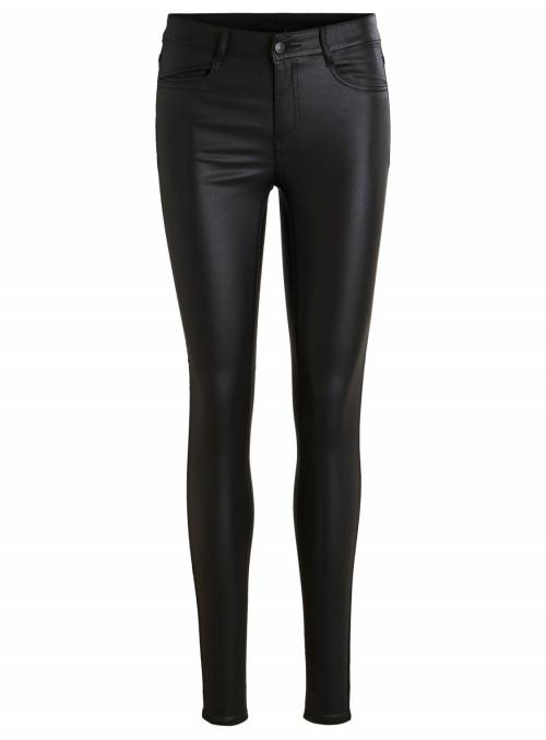 PANTS COATED- BLACK -