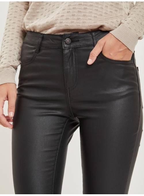 PANTS FEM WOV VI77/NYL20/EA3 - BLACK -