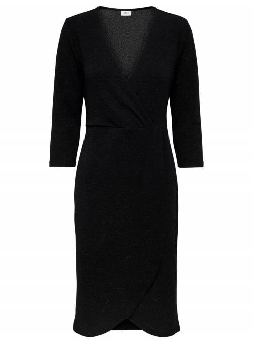 DRESS FEM KNIT PL97/EA3 - BLACK -