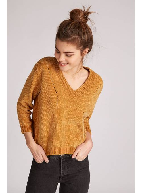 PULLOVER FEM KNIT PL100 - YELLOW -
