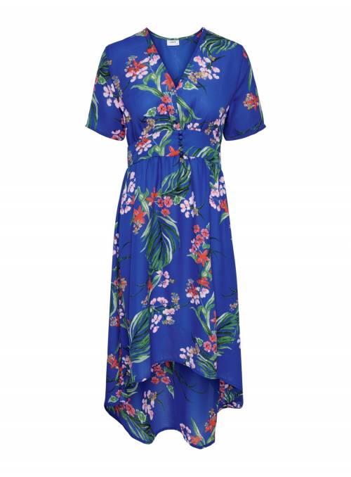 DRESS FEM WOV PL100 - BLUE - FLOWER