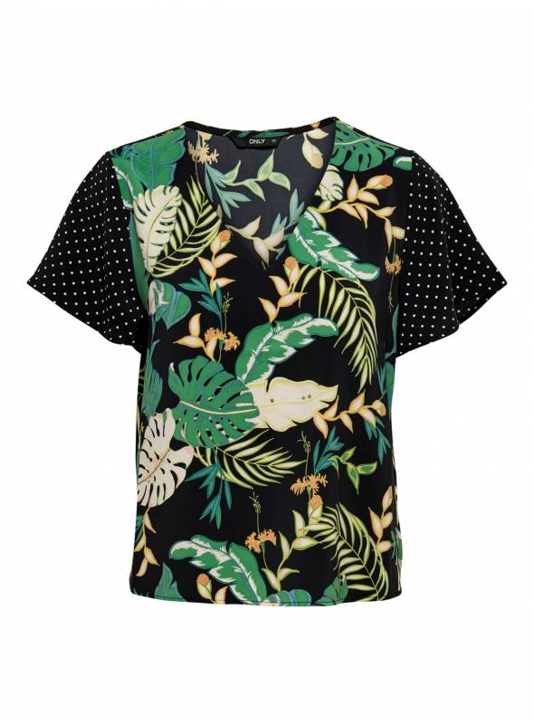 BLOUSE - CLOSED NECKLINE FEM WOV PL100 -
