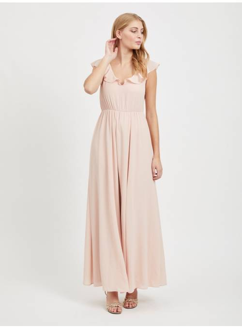 DRESS FEM WOV PL100 - ROSE -