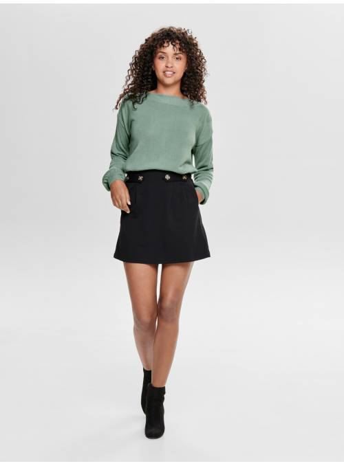 SKIRT FEM KNIT VI63/NYL32/EA5 - BLACK -