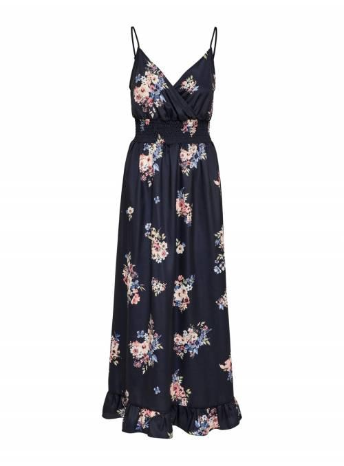 DRESS FEM WOV PL100 - BLUE - Blue Flower