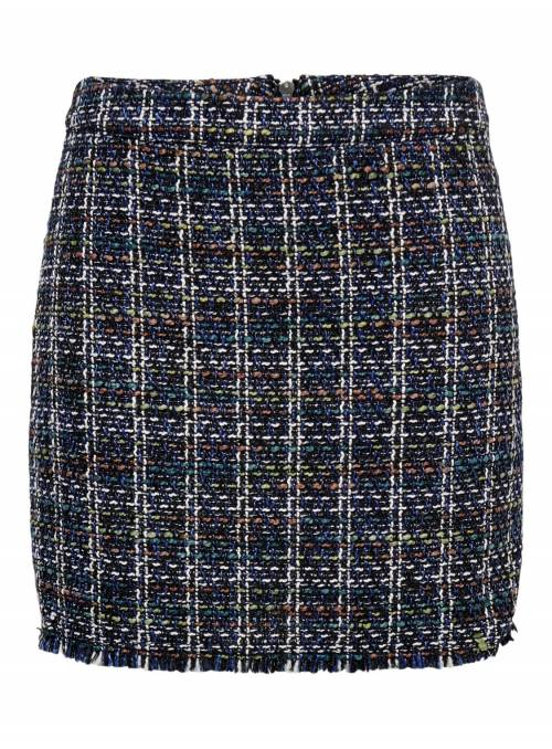 SKIRT FEM WOV PL86/VI7/CO5/POA2 - BLUE -