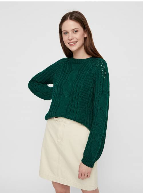 PULLOVER FEM KNIT PC100 - TURQUOISE -