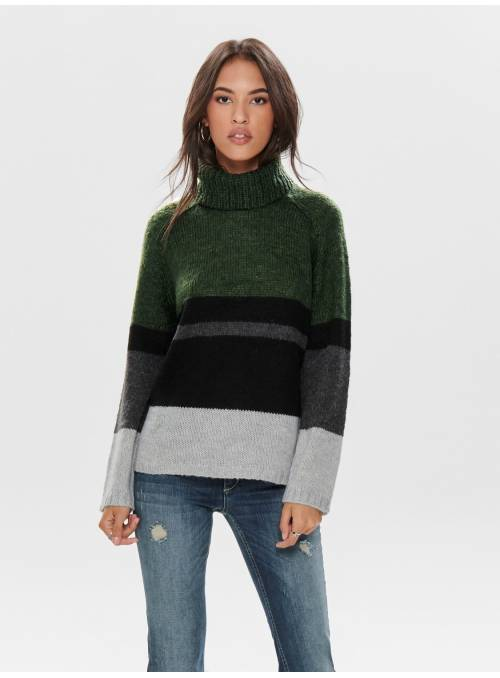 PULLOVER FEM KNIT PC91/NYL9 - TURQUOISE