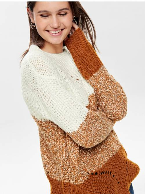 PULLOVER FEM KNIT PC100 - WHITE - W. SUG