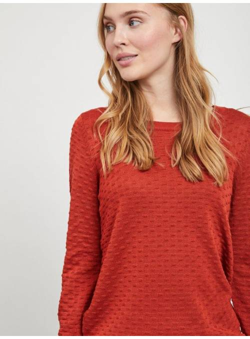 PULLOVER KNIT - RED -