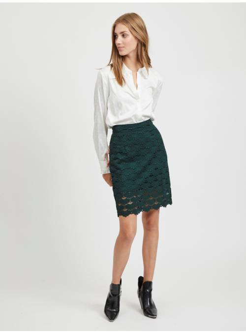 SKIRT FEM WOV NYL45/CO35/VI20 - GREEN -