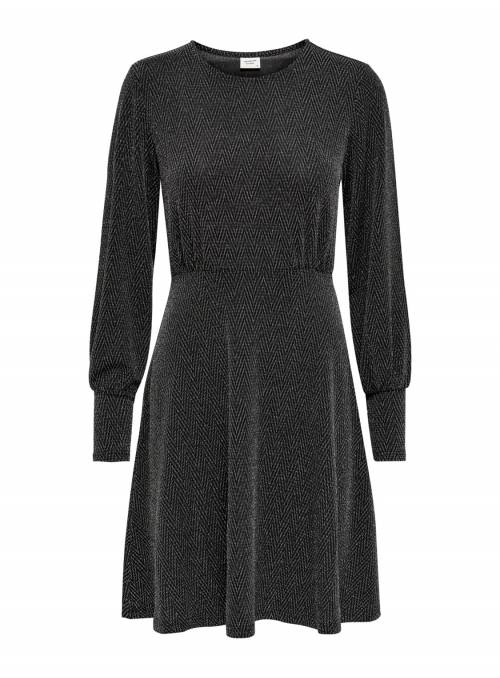 DRESS FEM - BLACK - LUREX