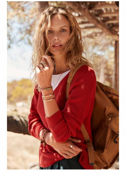 JERSEY POINTELLE - RED -