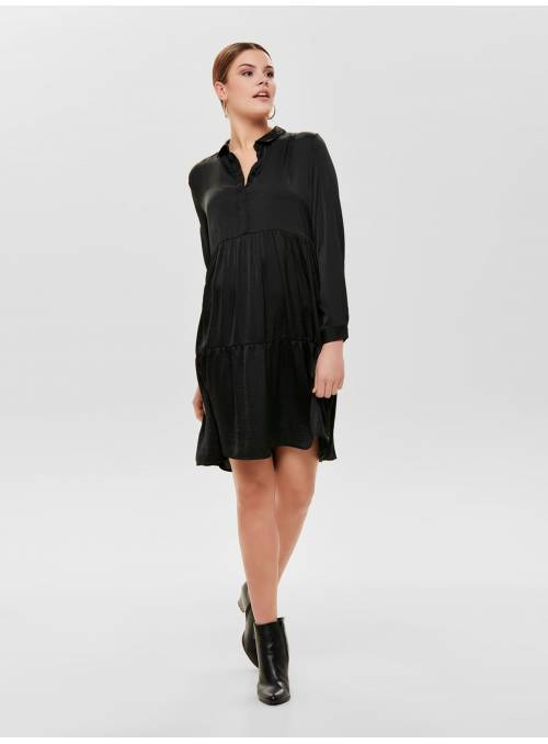 DRESS FEM WOV PL100 - BLACK -