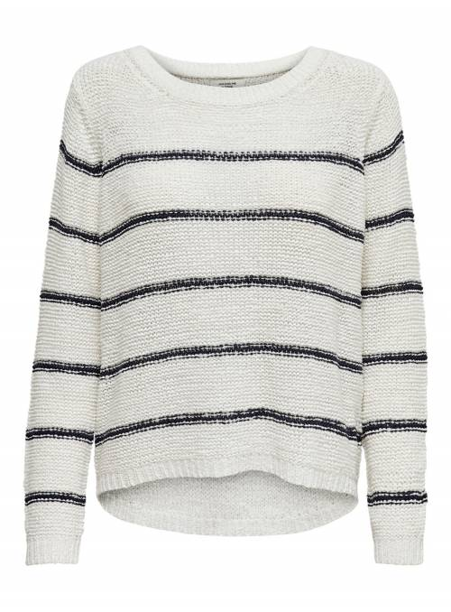 PULLOVER FEM KNIT PC65/NYL35 - WHITE - S