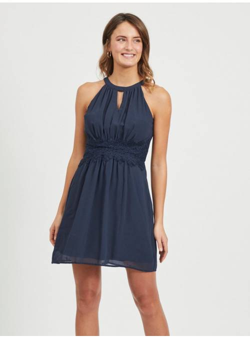 DRESS FEM WOV PRE51/PL49 - BLUE -
