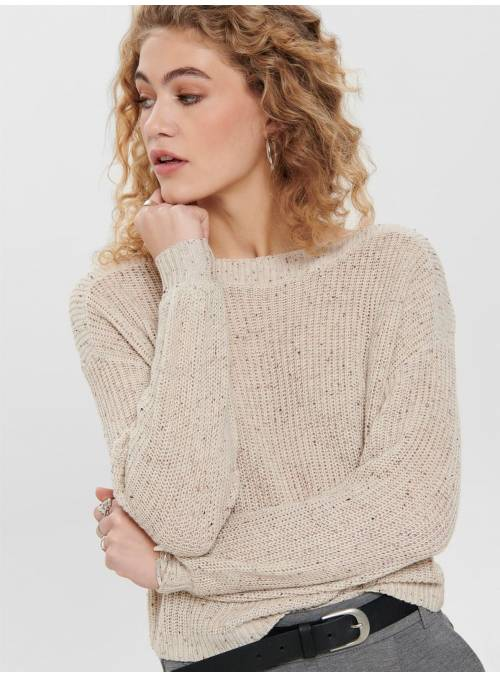 PULLOVER FEM KNIT PC50/CO50 - GREY - W.