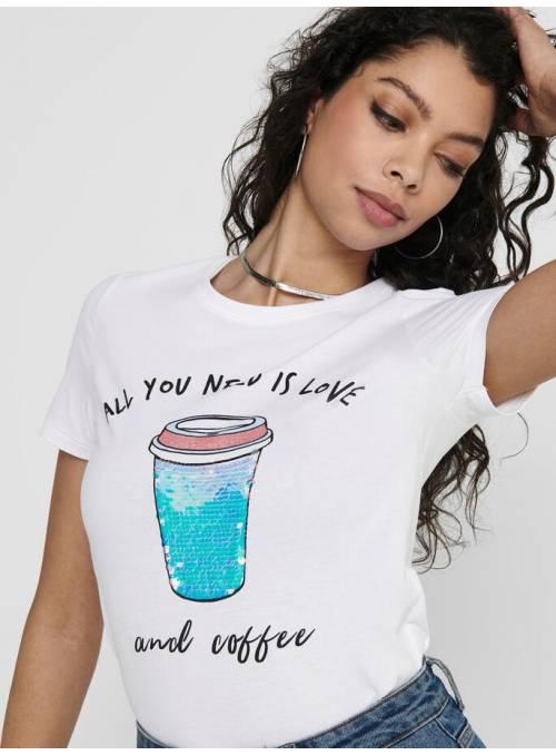 T-SHIRT - WHITE - COFFEE