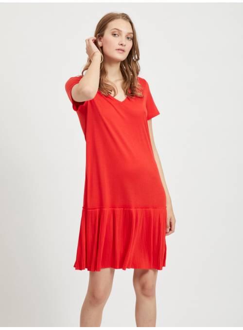 DRESS PLISADO - RED -