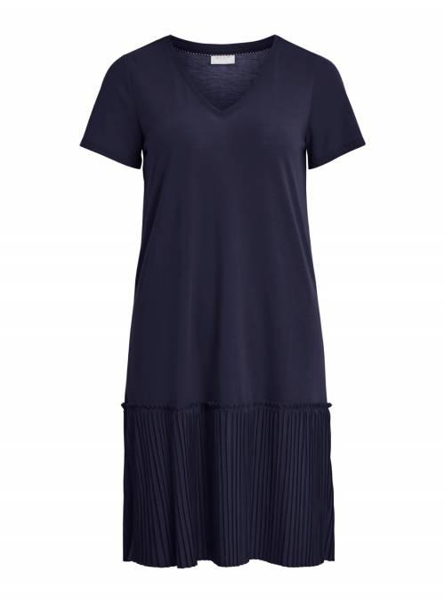 DRESS FEM KNIT PL65/VI35 - BLUE -