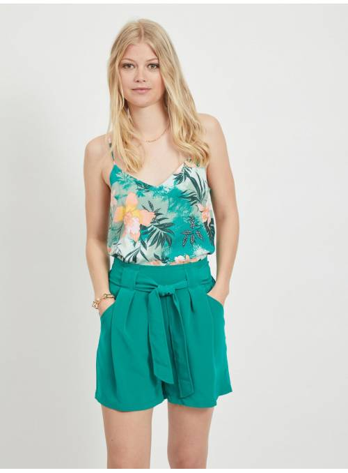 TROPICAL TOP- TURQUOISE -