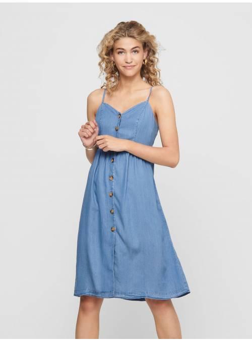 DRESS FEM WOV LYT100 - BLUE -