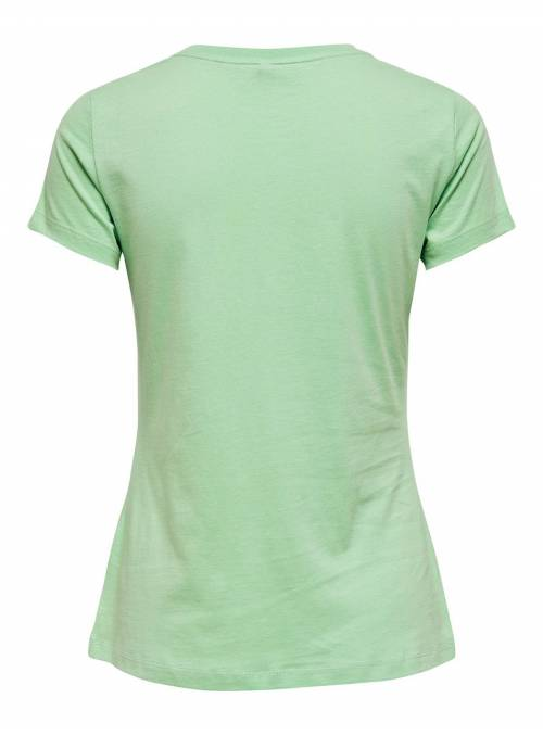 T-SHIRT FEM KNIT OCO100 - GREEN - WEEKEN