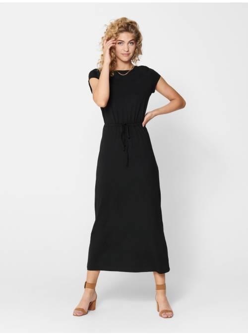 DRESS FEM KNIT CO100 - BLACK -