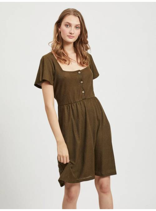 DRESS BUTTON - BROWN -