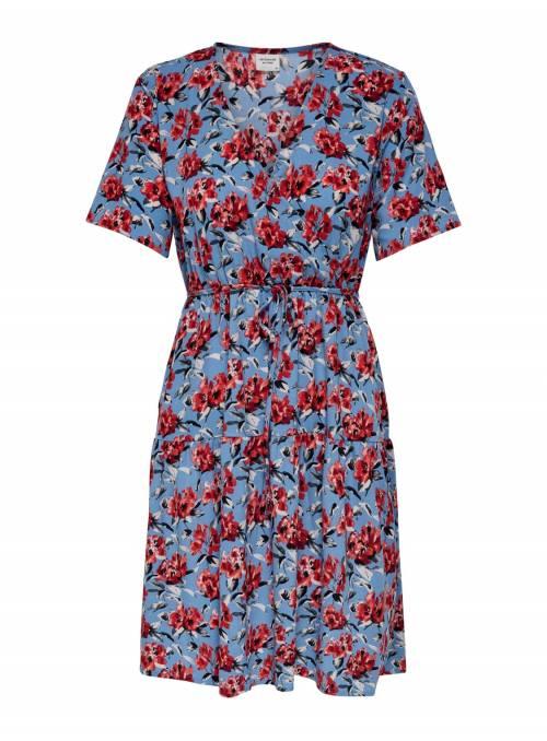 DRESS FEM WOV PL100 - BLUE - CARDINAL BI