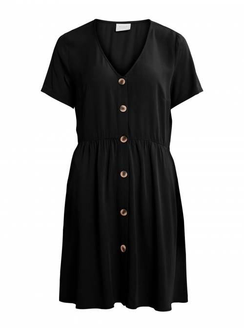 DRESS BOTONES - BLACK -