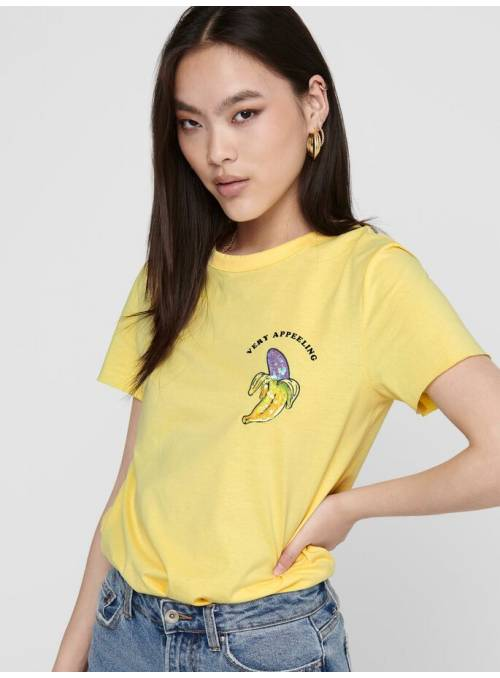 T-SHIRT ORGANIC- YELLOW - BANAN