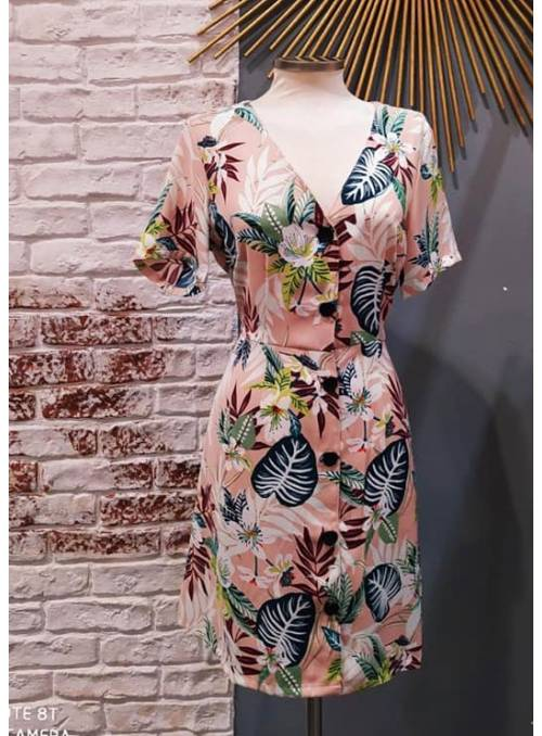 DRESS - ROSE - JUNGLE FLOW