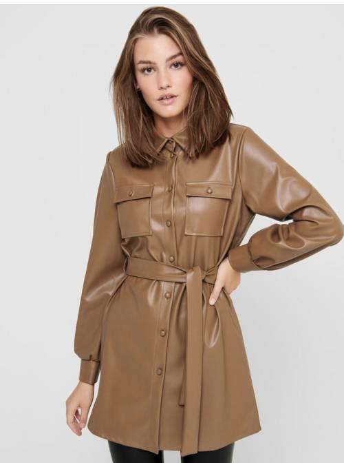 DRESS ECOPIEL - BROWN -