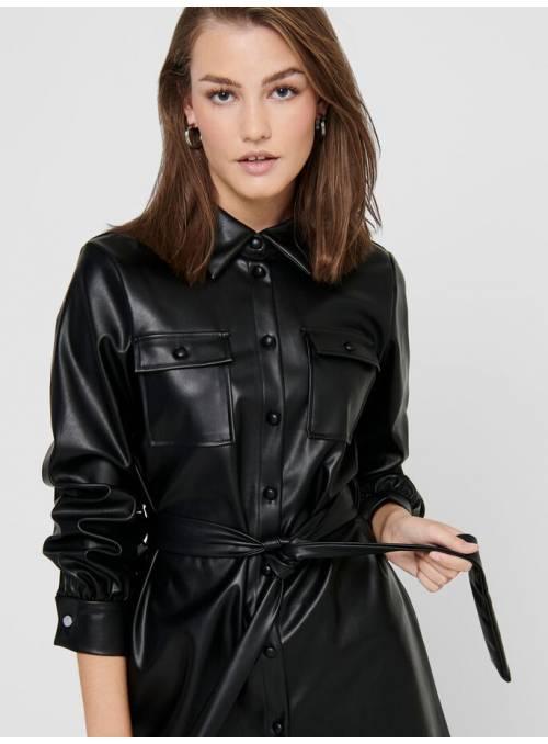 DRESS FEM WOV PPU100 - BLACK -