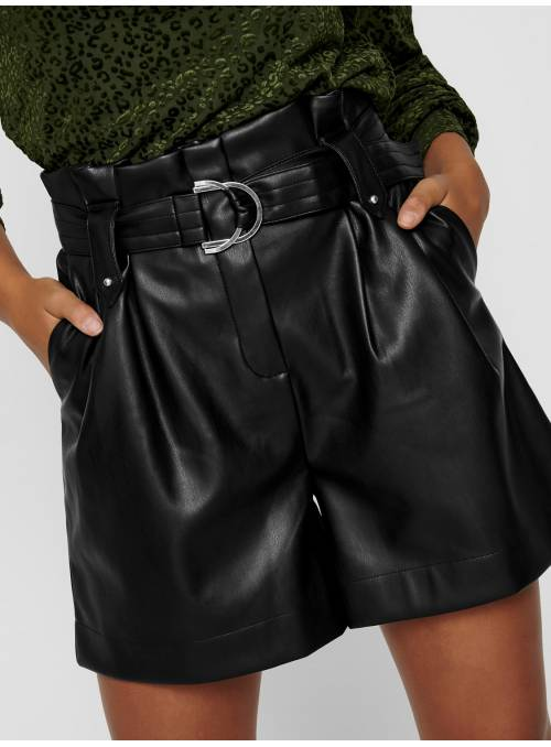 SHORTS FEM WOV PPU100 - BLACK -